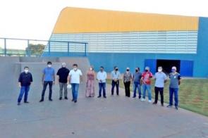 Centro Poliesportivo é entregue em Chapadão do Sul com verba de Marçal