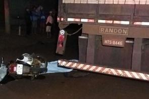 Motociclista de 18 anos morre após bater na traseira de carreta