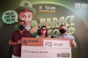 """Ganhadora do prêmio de R$ 50 mil do Nota MS Premiada realizou compra através de """"delivery"""""""