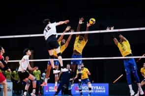 Vôlei: seleção masculina se recupera e bate Japão na Liga das Nações