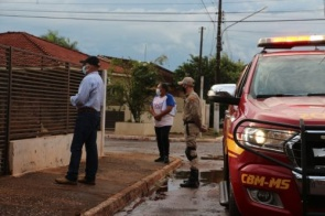 Corpo de Bombeiros retoma monitoramento de casos positivos com coronavírus em Itaporã