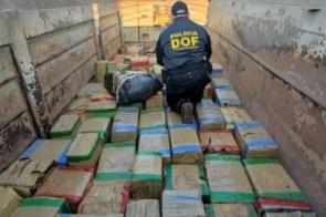 DOF apreende carreta que seguia para São Paulo com mais de 3 toneladas de maconha