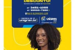 Unigran EAD Itaporã: Concorra a 10 bolsas de 20% de desconto