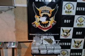 Dois são presos e 27kg de skunk apreendidos após denúncia de tráfico de drogas em Dourados