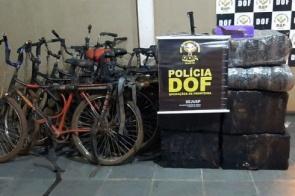 Seis bicicletas são apreendidas com maconha e skank pelo DOF