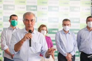 """Capital: """"Vida longa a todos nós campo-grandenses"""", diz Reinaldo Azambuja"""