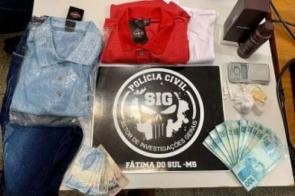 Casal é preso pela Polícia Civil acusado de tráfico de drogas em Fátima do Sul