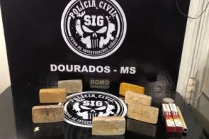 Polícia Civil e Guarda Municipal apreendem pasta base de cocaína com hóspedes de hotel em Dourados