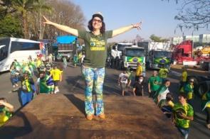 Itaporanenses aderem manifestação a favor do Presidente Jair Bolsonaro na cidade e em Brasília