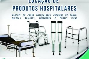 Aluguel de muletas, cadeiras de rodas, camas hospitalares a partir de R$ 3,00 ao dia!