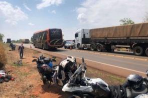 Diamantino: Acidente envolvendo motocicleta e carreta mata ex-prefeito e esposa