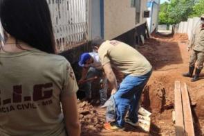 Ossada humana é encontrada enterrada em contrapiso de hospital