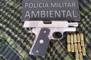 PMA prende jovem de 21 anos por disparos e porte ilegal de pistola e munições estrangeiras de grosso calibre