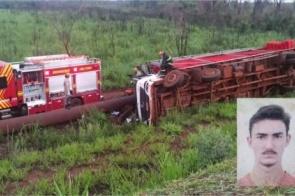 Motorista tomba caminhão e morre entre Dourados e Laguna Caarapã