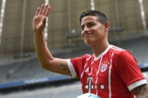 Jornal: Bayern vai pagar 42 milhões de euros para ter James em definitivo