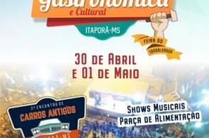 Prefeitura de Itaporã realiza Feira Gastronômica e Cultural nos dias 30 e 1 de maio