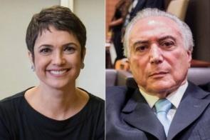 Sandra Annenberg chama Michel Temer de 'ex-presidente' ao vivo