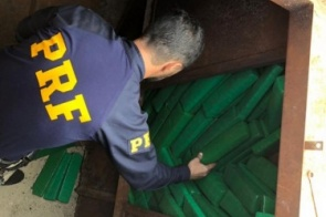 PRF apreende duas toneladas de maconha entre Dourados e Ponta Porã
