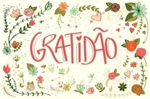 A gratidão está na moda