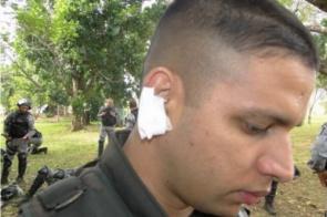 Comandante da PM diz que 8 policiais ficaram feridos em conflito