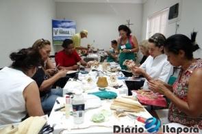 Sindicato Rural de Itaporã realiza curso de artesanato em palha de milho