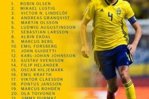 Sem Ibrahimovic, Suécia divulga os 23 convocados para a Copa do Mundo