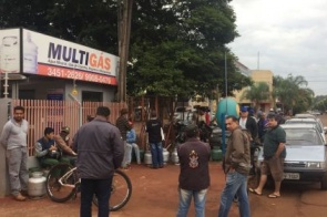Pela primeira vez Itaporanenses enfrentam fila para comprar gás de cozinha