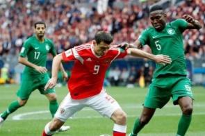 Rússia goleia Arábia Saudita no primeiro jogo da Copa