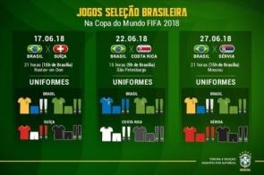 Uniformes definidos: Seleção estreia com a camisa amarela contra a Suíça