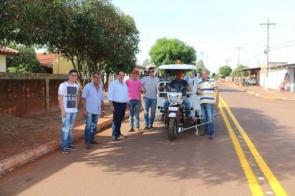Itaporã adquiri triciclo para pintura de guias e sinalização horizontal