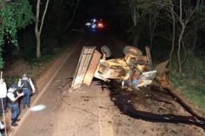Acidente entre caminhonete e trator deixa um morto e outro ferido em Dourados