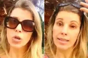 Ex-paquita sofre acidente doméstico com produto de limpeza e faz alerta