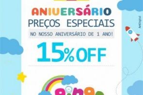 Outubro é mês de aniversario da loja Pingo de Gente e quem ganha o Presente é você cliente com descontos especiais