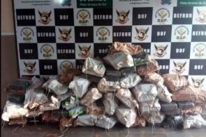 DOF apreende quase uma tonelada e meia de droga após denúncia em Dourados