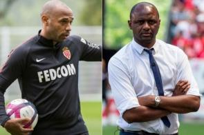 Agora como treinadores, Henry e Vieira se enfrentam pela primeira vez
