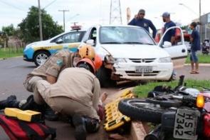 Com problema psiquiátrico e bêbado, homem causa acidente em avenida