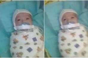 Bebê de três meses é encontrado em hospital com chupeta presa por esparadrapo