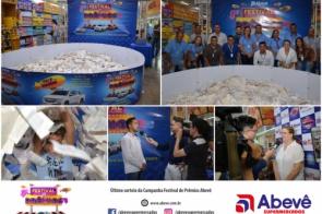 Rede Abevê Supermercados realizou o último sorteio da Campanha Festival de Prêmios