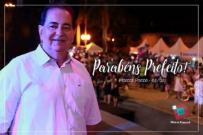 Completando idade nova nesta terça-feira (05) o prefeito de Itaporã Marcos Pacco