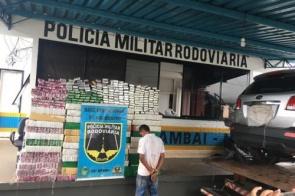 Douradense é preso com mais de 1 tonelada de maconha em veículo roubado