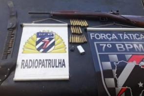 Dono de motel é preso com fuzil e munições de grosso calibre