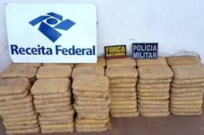 Receita Federal apreende 158 quilos de cocaína em caminhonete