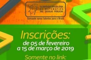 Inscrições abertas para Olimpíada Brasileira de Matemática nas Escolas Públicas