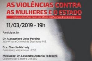 Juiz de Dourados faz palestra sobre violência contra mulheres
