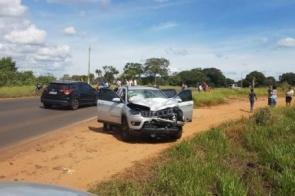 Acidente entre carro e moto na MS 164 deixa vítima fatal em Ponta Porã
