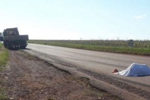 Homem morre atropelado em rodovia de MS