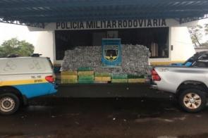 Traficante abandona caminhonete roubada com 1,5 tonelada de maconha