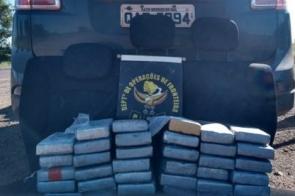 Polícia apreende veículo carregado com quase 40 quilos de cocaína