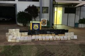 Ação conjunta apreende 556 quilos de cocaína em ônibus de turismo religioso
