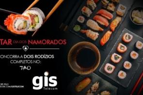 GIS Telecom sorteia jantar de comida japonesa para o Dia dos Namorados